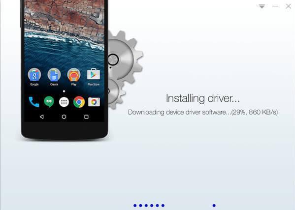 Instalando el controlador para el dispositivo Samsung | KingoRoot, la mejor herramienta de root Android con un solo clic.