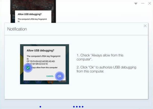 Permitir la depuración USB en un dispositivo Samsung | KingoRoot, la mejor herramienta root de Android con un solo clic.